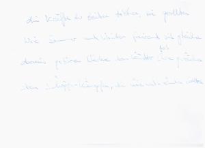 Sonett, 2.Strophe Endfassung