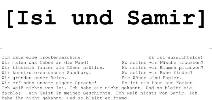 Isi und Samir - ein Endlosprojekt